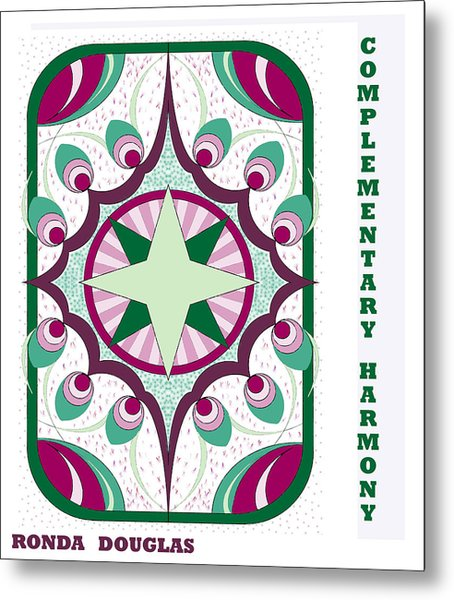 Complementary Harmony Metal Print