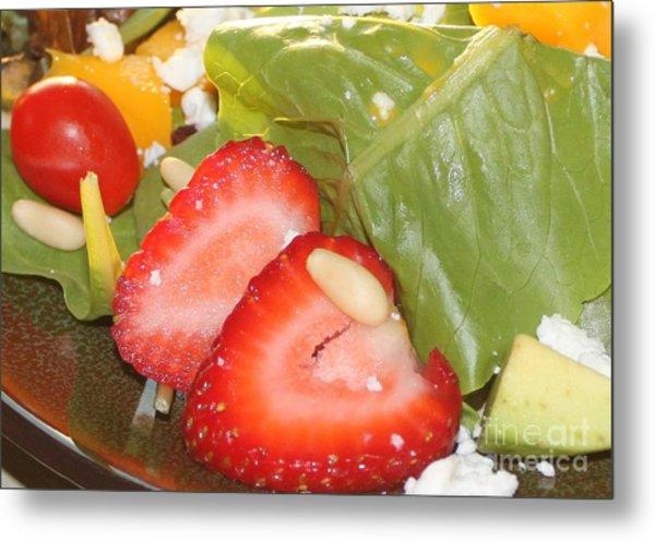 Complimentary Salad Metal Print