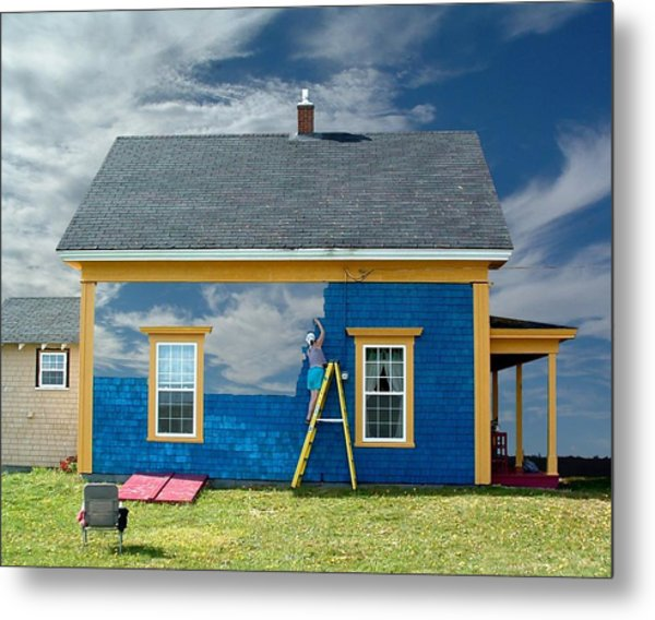 Composite - Blue Sky House Metal Print