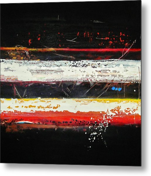 Composition Bl Metal Print by Mohamed KHASSIF