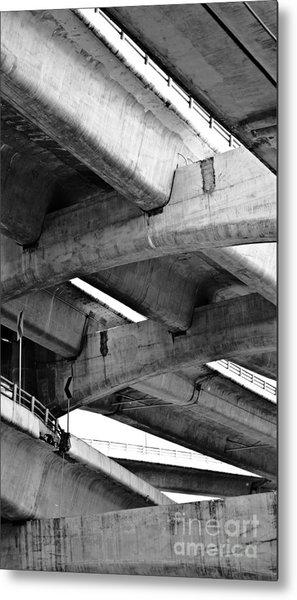 Concrete Jungle Canopy Metal Print by L E Jimenez