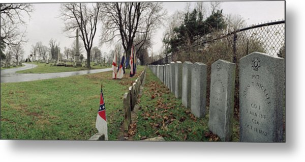 Confederate Graves Metal Print by Jan W Faul