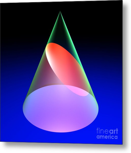 Conic Section Ellipse 6 Metal Print