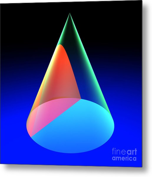 Conic Section Hyperbola 6 Metal Print
