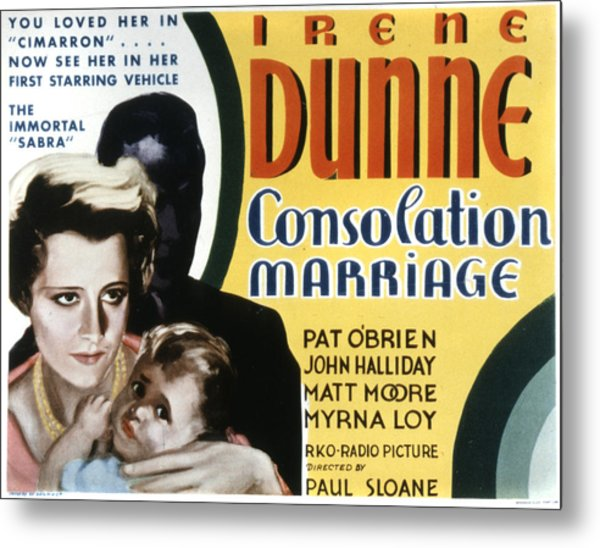 Consolation Marriage, Irene Dunne Metal Print