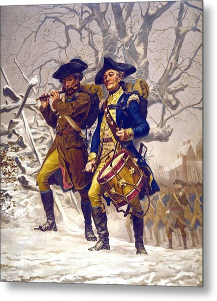 Continental Army Color Guard, Playing Metal Print