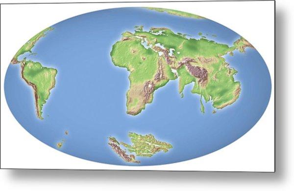 Continental Drift After 100 Million Years Metal Print by Mikkel Juul Jensen