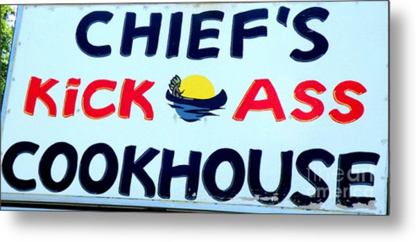 Cookhouse Sign  2 Metal Print