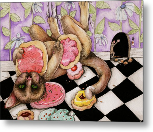 Cookie Puss Metal Print