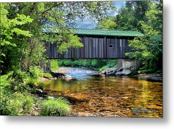 Cool And Green And Shady Metal Print