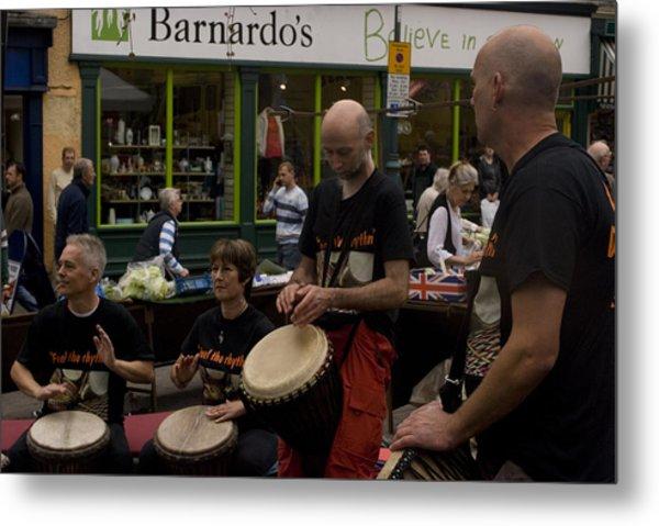 Cool Drummings 2 Metal Print by Peter Jenkins
