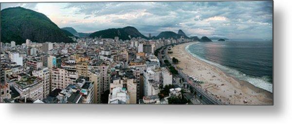 Copacabana Sunset Metal Print