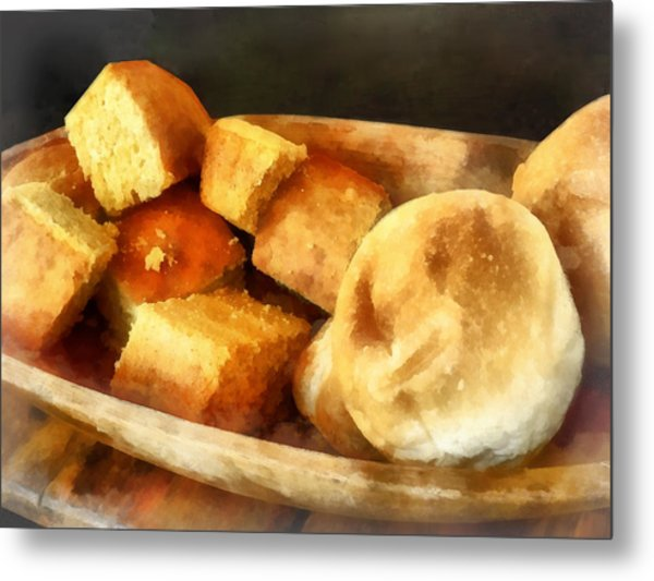 Cornbread And Rolls Metal Print
