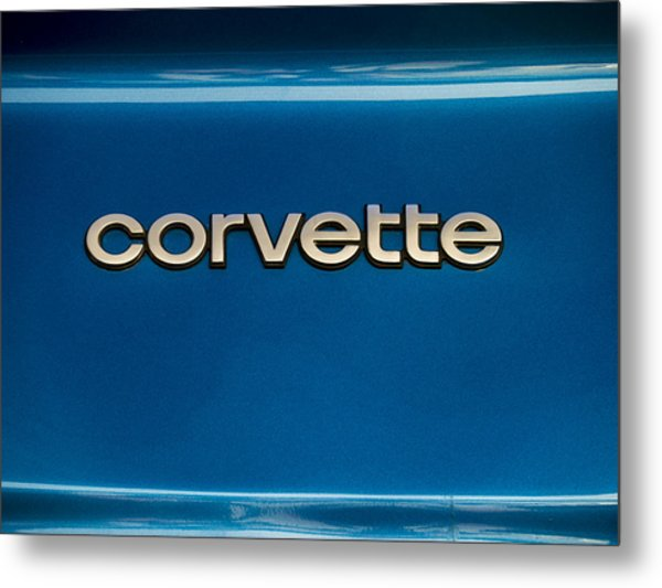 Corvette Badge Metal Print