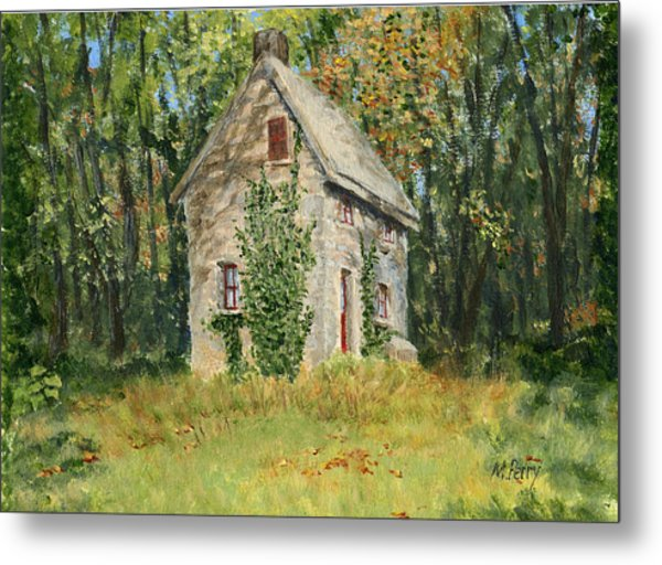Cottage In The Woods At Fonthill Metal Print
