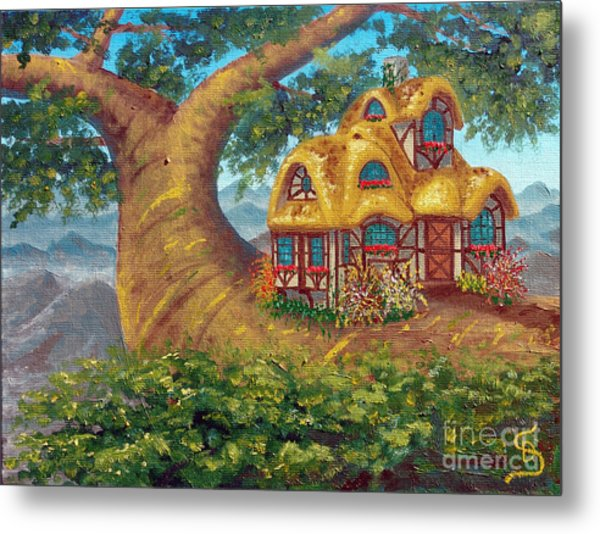Cottage On A Branch From Arboregal Metal Print