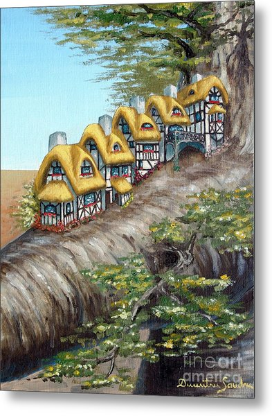 Cottage Row From Arboregal Metal Print