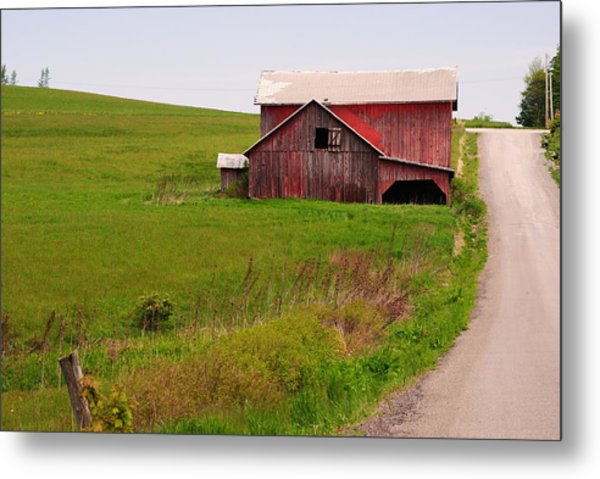 Country Barn Metal Print by April  Robert