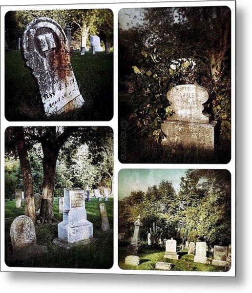 Country Graveyard Metal Print