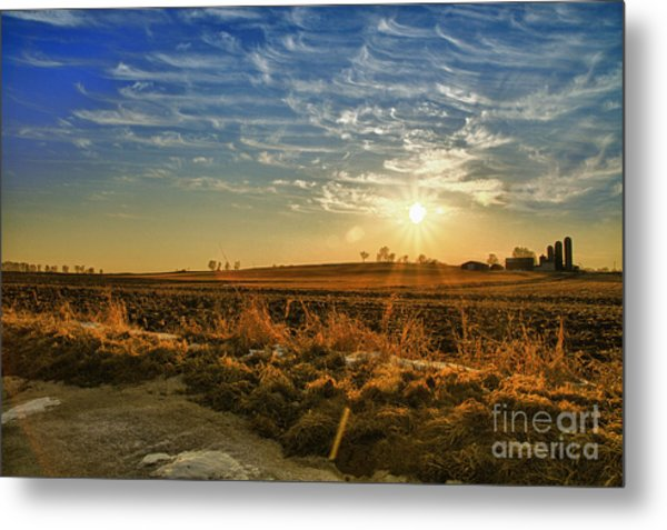 Country Light Metal Print
