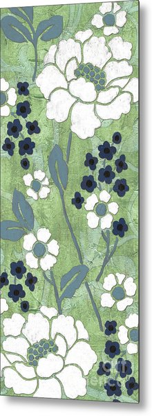 Country Spa Floral 1 Metal Print