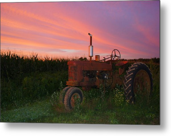 Country Sunset Metal Print by Corrie McDermott