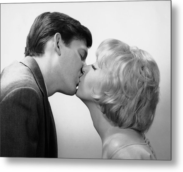 Couple Kissing Metal Print by George Marks