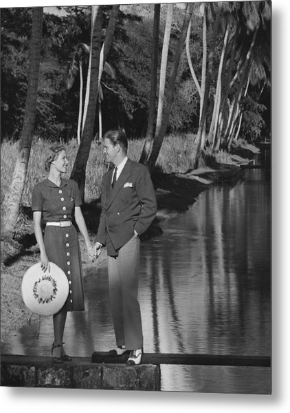 Couple Outdoors Metal Print by George Marks