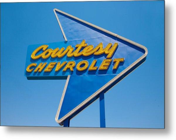 Courtesy Chevrolet Metal Print