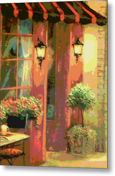 Courtyard Metal Print by David Alvarez