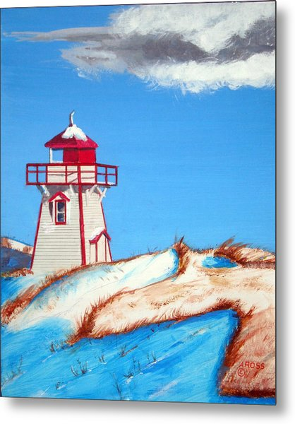 Covehead Harbor Light Metal Print