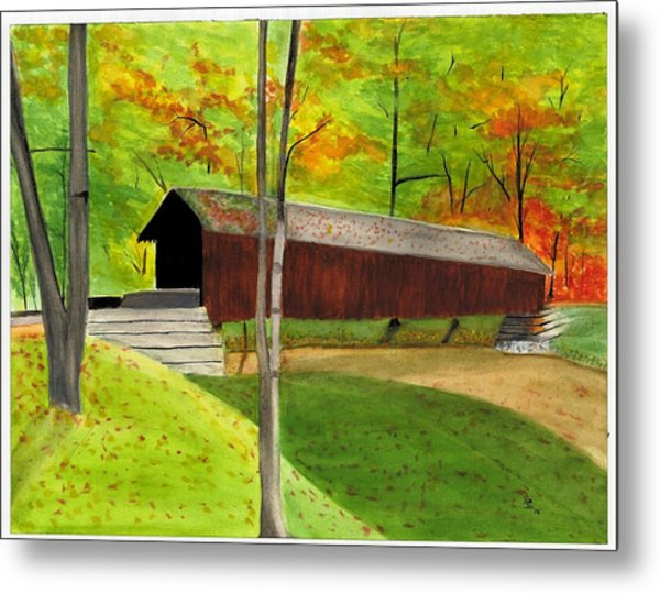 Covered Bridge 1 Metal Print