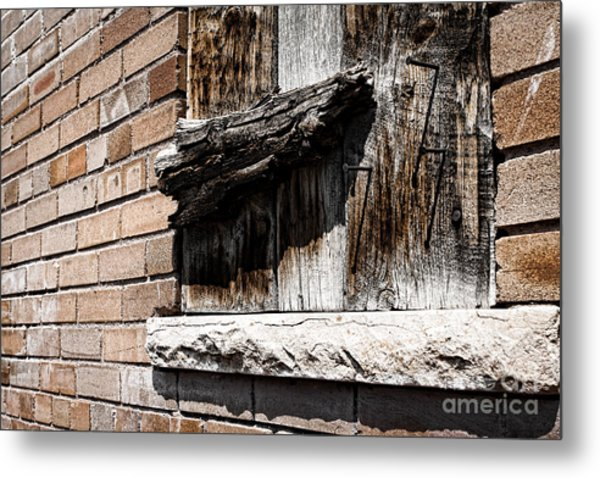 Covered Window Metal Print