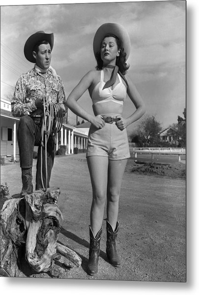 Cowgirl Blues Metal Print by Archive Photos