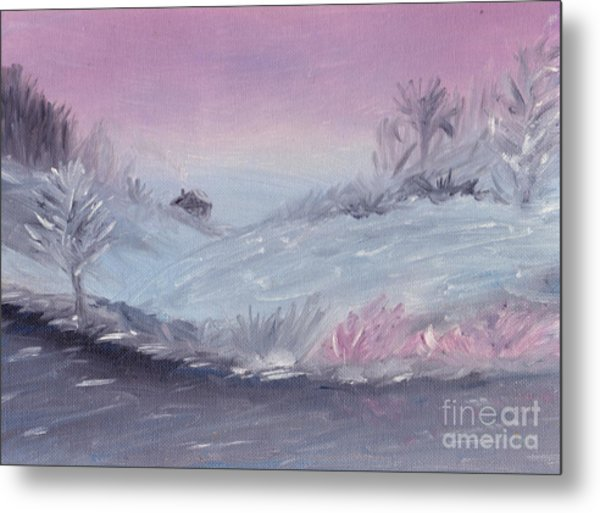 Cozy Winter Twilight Metal Print