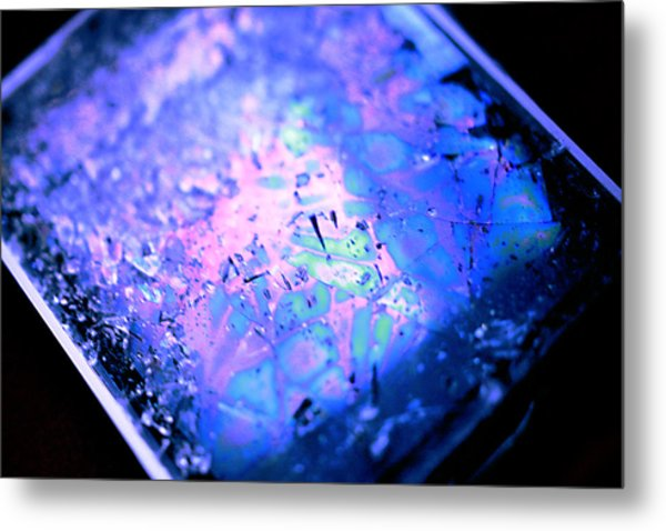 Cracked Cellphone Metal Print by Will Czarnik