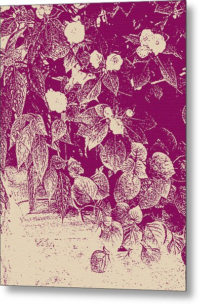 Cranberry Cascade Metal Print