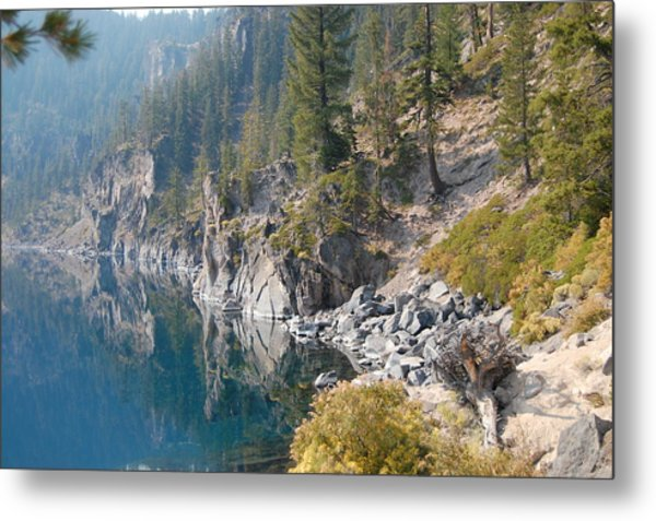 Metal Print featuring the photograph Crater Lake Reflections by Margaret Pitcher