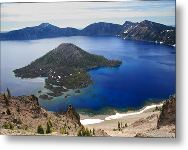 Crater Lake Wizard Island Metal Print by Pierre Leclerc Photography