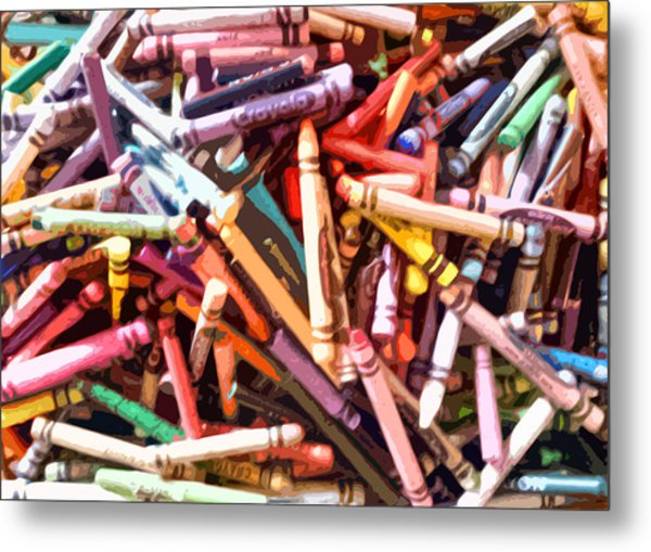 Crayola Metal Print by Bernadette Kazmarski