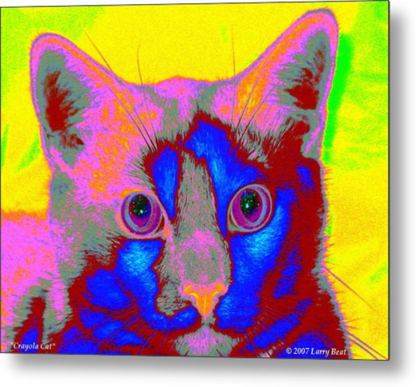 Crayola Cat Metal Print