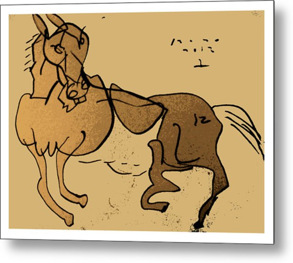 Crazy Horse Metal Print by Peter Szabo
