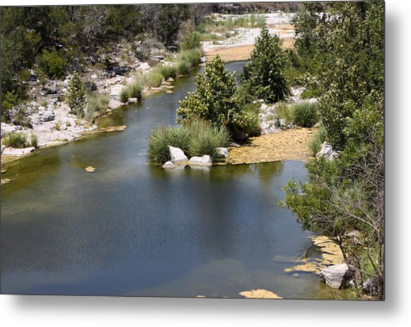 Creek In Marble Falls Metal Print by Linda Phelps