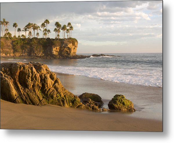 Crescent Bay Beach Laguna Metal Print