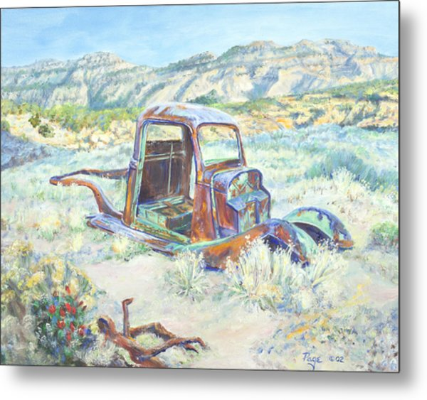 Crescent Canyon Relic Metal Print