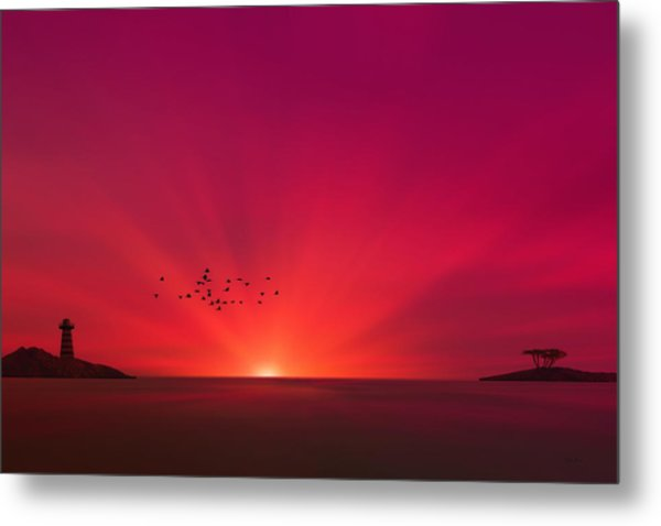 Crimson Sunset Metal Print by Tom York Images