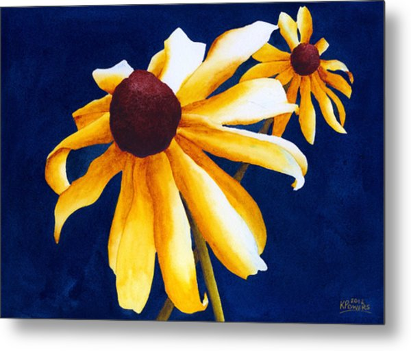 Metal Print featuring the painting Criss Cross by Ken Powers