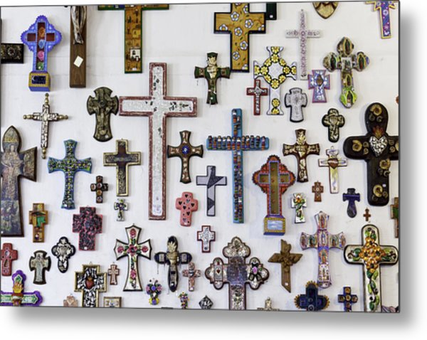 Crosses Metal Print