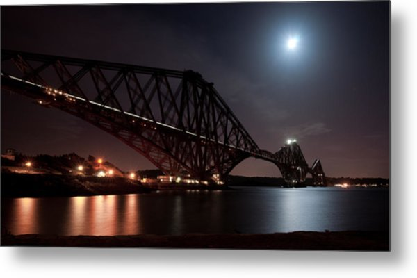 Crossing The Firth Under A Full Moon Metal Print