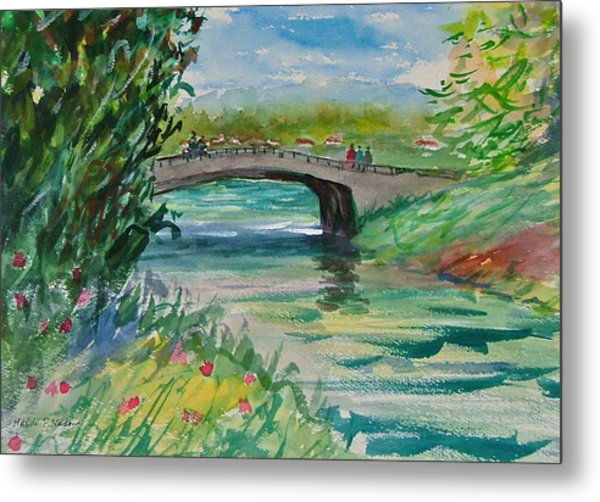 Crossing The River Metal Print